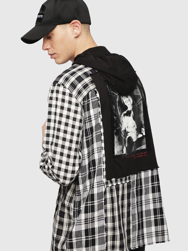 Diesel - S-MICHI, Black/White - Shirts - Image 4