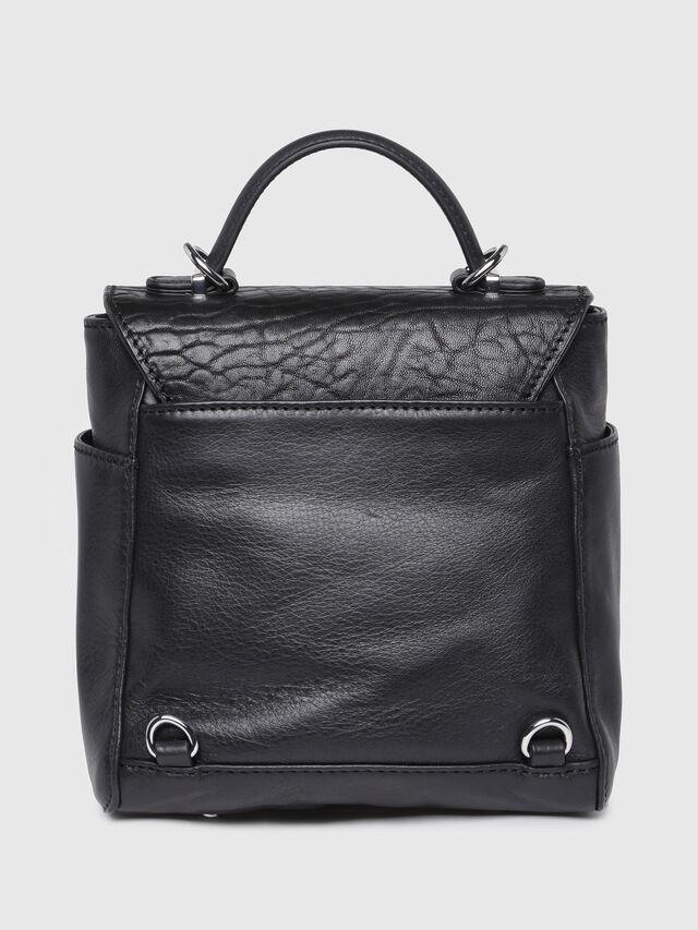 Diesel - LE-KIIMY II, Black Leather - Backpacks - Image 2