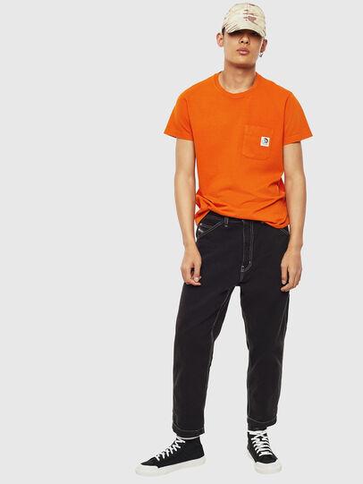Diesel - T-WORKY-MOHI-S1, Orange - T-Shirts - Image 5