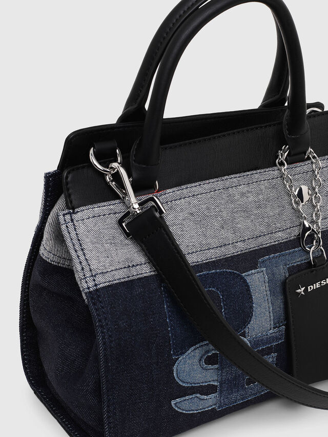 Diesel - F-DESTAR SATCHEL M, Blue/Black - Shopping and Shoulder Bags - Image 3