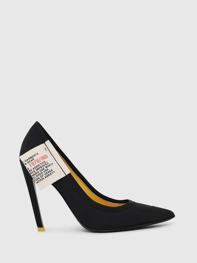Diesel - D-SLANTY HPD, Black/Yellow - Heels - Image 1
