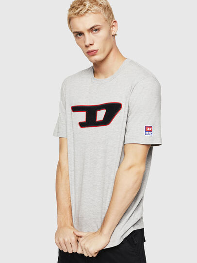 Diesel - T-JUST-DIVISION-D, Grey - T-Shirts - Image 1